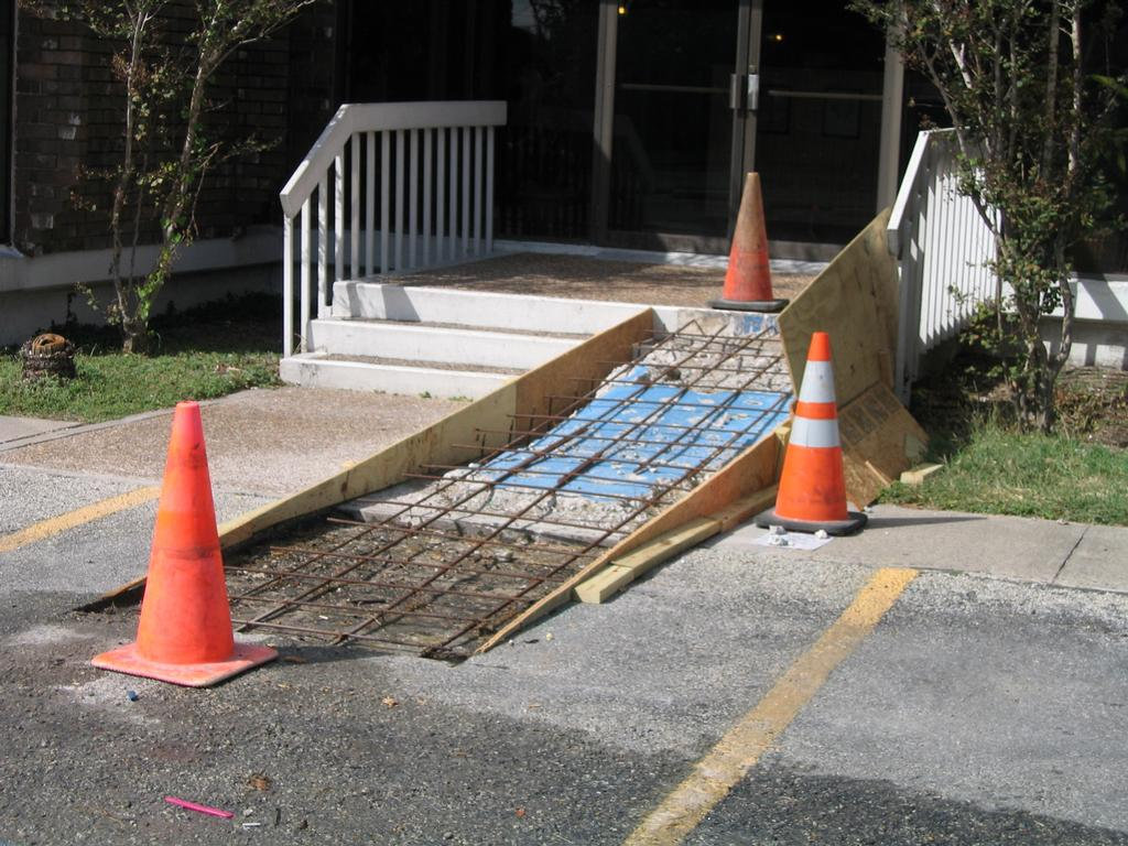 Ada and wheelchair ramps buchheit parking lot repair for Handicap stairs plans
